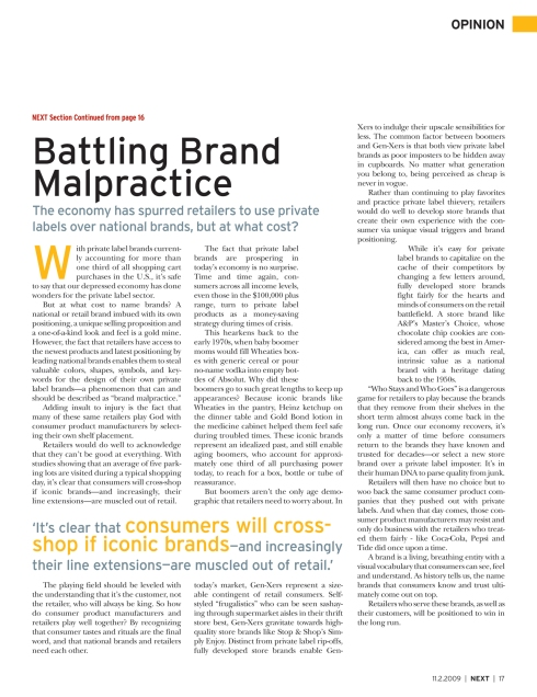 Brand Malpractice Article